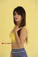 Cute Telugu Actress Shunaya Solanki High Definition Spicy Pos in Yellow Top and Skirt  0104.JPG