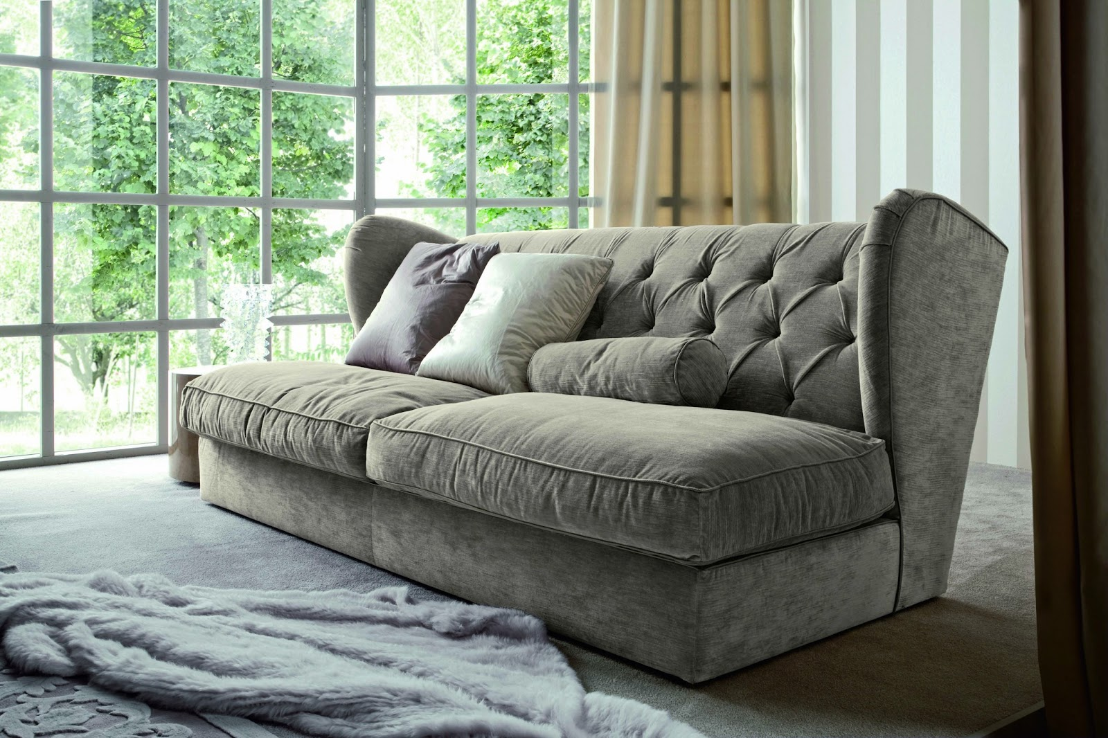 living sofa design textured linen slipcover modern furniture 2013 room sofas