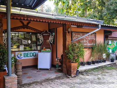 Natural herbal products at the OTOP in Nan - Thailand