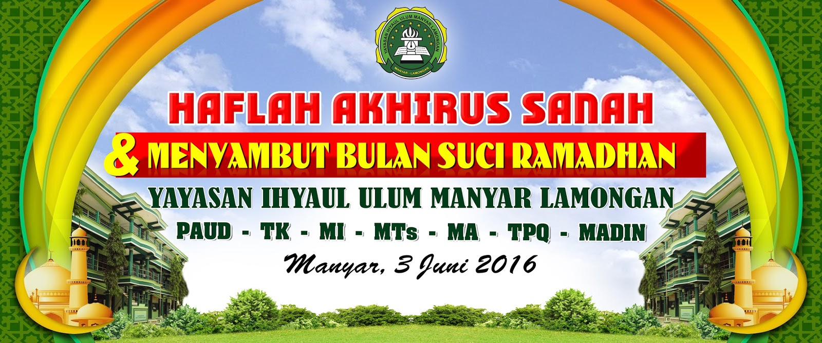 Download Background Banner Haflah cdr vector
