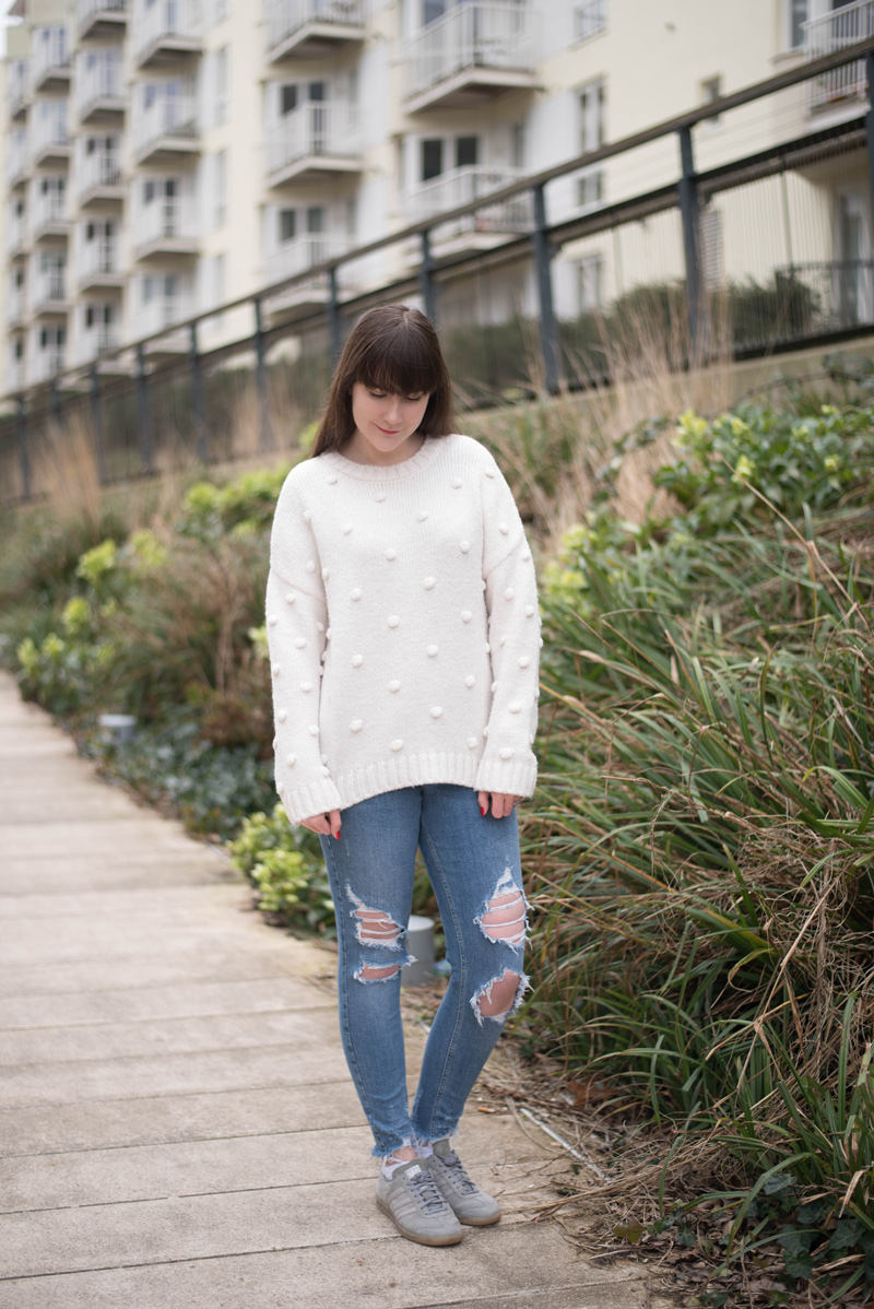 Next Cream Pom Pom Sweater