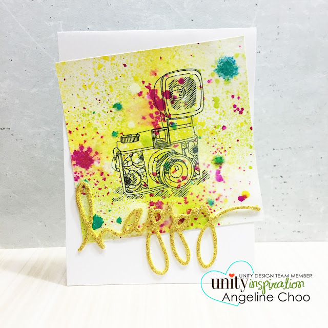 Unity Stamp: KOTM Monday with Angeline [NEW VIDEO] #scrappyscrappy #unitystampco #stamp #stamping #card #cardmaking #dylusion #inkspray #mixedmedia #heidiswapp