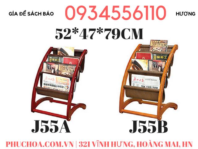 Giá để sách J-55 A-B cho khách sạn, công ty