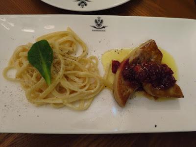 Kaiserhaus, linguine lemon butter foie gras