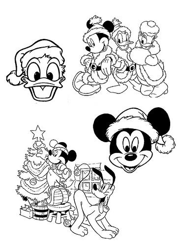 dibujos animados para colorear dibujos disney navidad