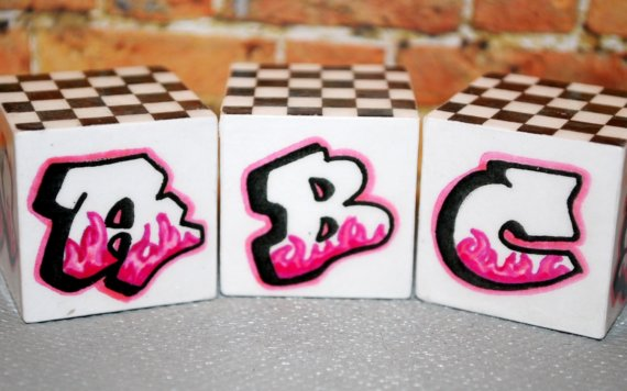 3 Graffiti Letters ABC: