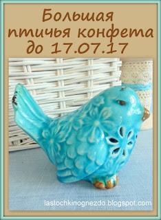 Большая птичья конфетка до 17 июля