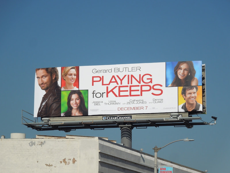 Playing for Keeps movie billboard