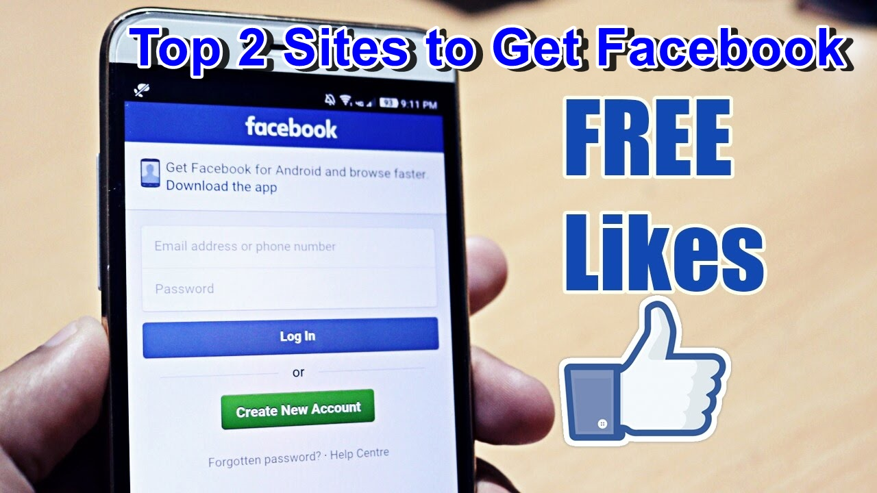 Top 2 Sites to Get Facebook Page Likes FREE (help2way)