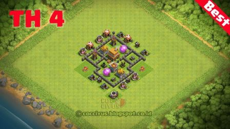 formasi coc th 4 terkuat base trophy
