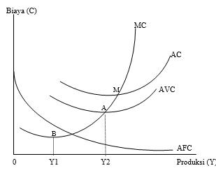 Kurva Hubungan antara MC, AVC, AFC dan AC