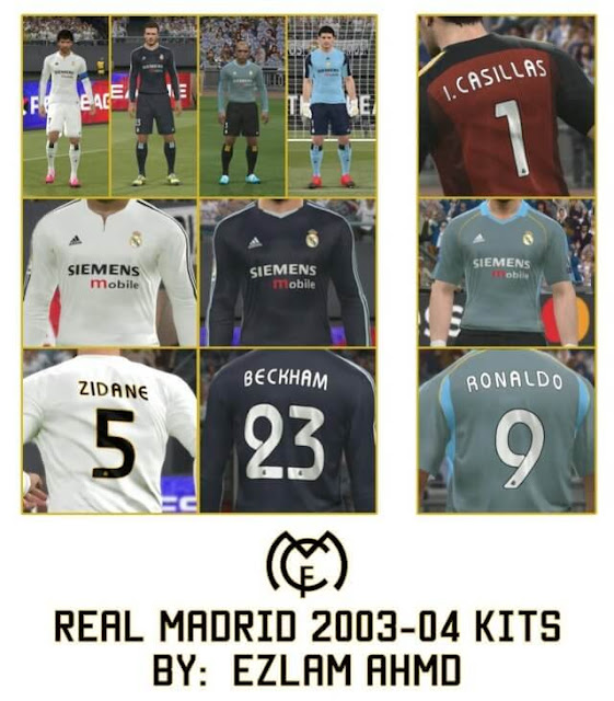 huge discount 15a16 ae60a Real Madrid 2003-2004 Kits - PES 2017 - PATCH PES | New ...