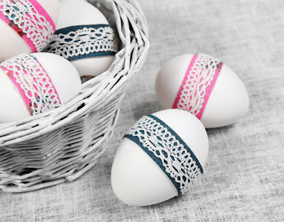Laced up Easter eggs