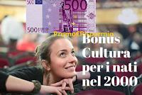 Logo Bonus cultura da 500€ per i nati del 2000 : scopri la data di attivazione con 18app!