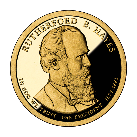 Rutherford B. Hayes 2011 US Presidential One Dollar Coin
