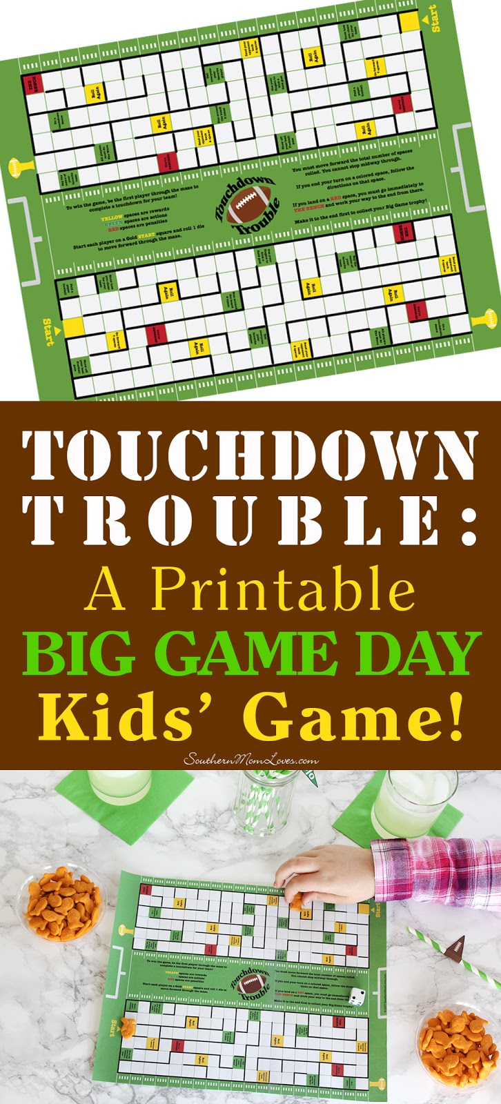 Southern mom loves touchdown trouble a printable big for Gold fish card game
