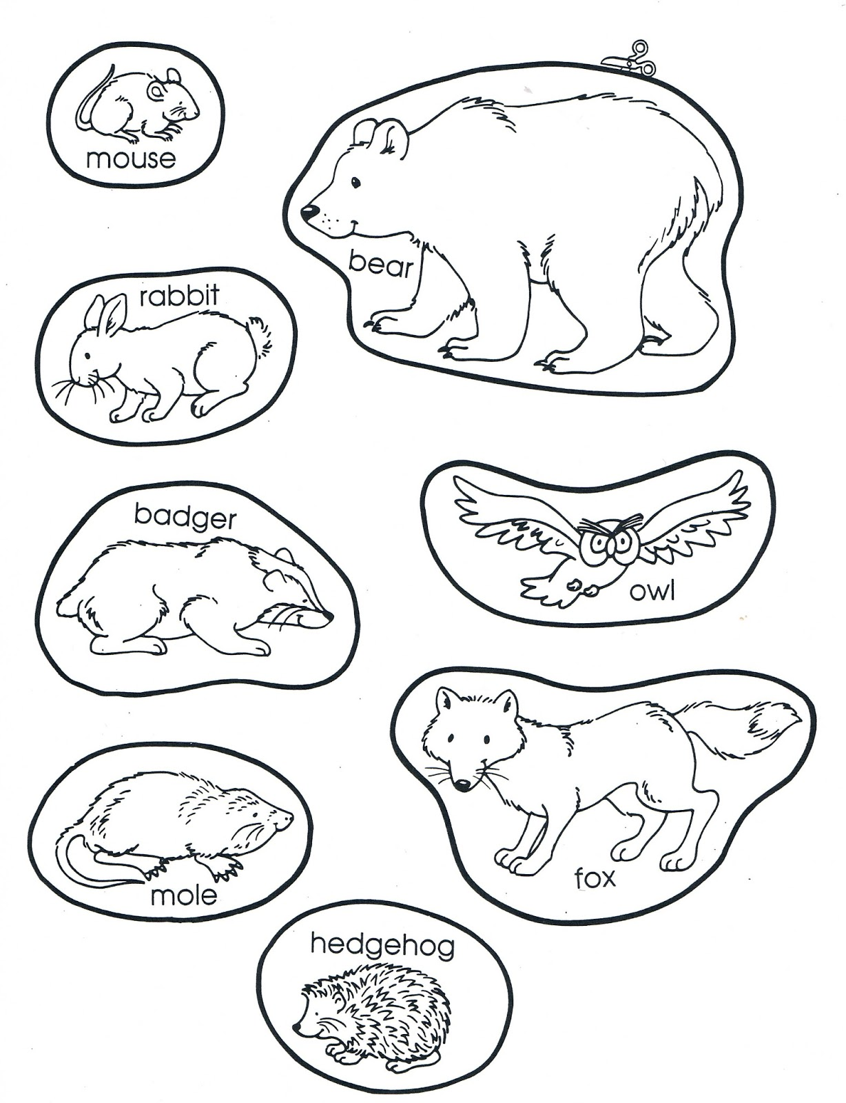 image regarding The Mitten Animals Printable named Adams Household Farm and Homeschool: Library Tale Season - The