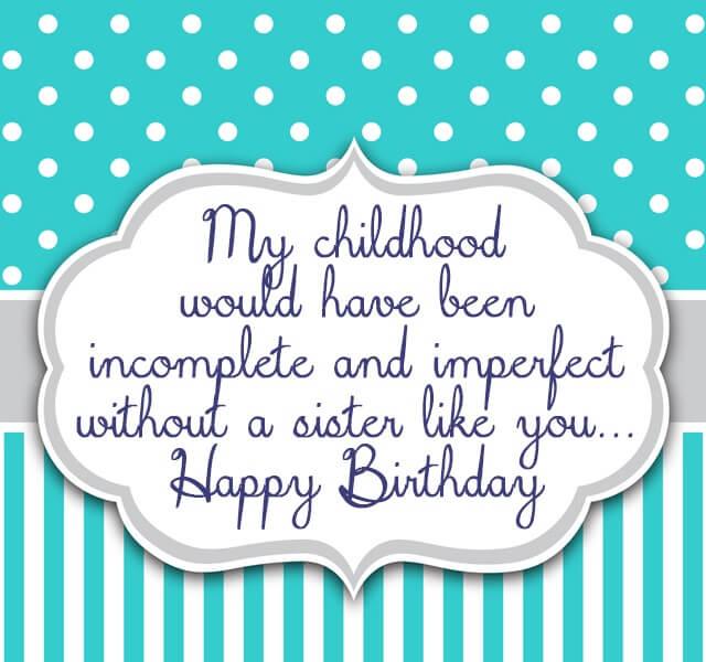 Happy Birthday Sister blessing image with sayings