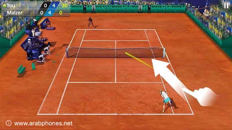 لعبة Tennis 3D مهكرة للأندرويد
