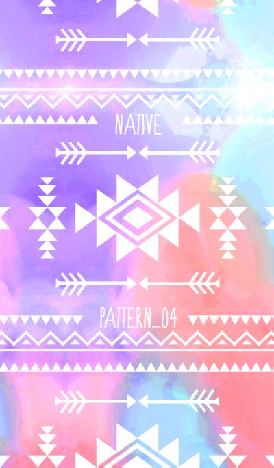 Native pattern04-Tie dye -