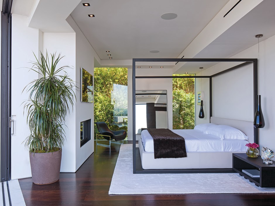 36 million dollar beverly hills modern see this house 12604 | beverly hills modern mansion master bedroom