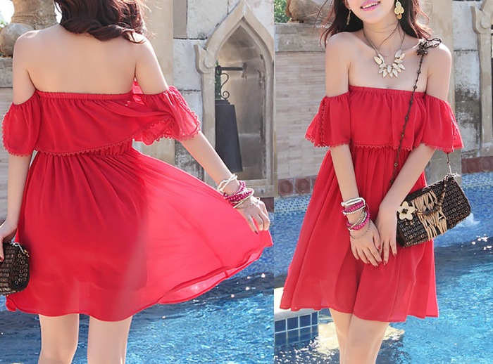 https://www.stylewe.com/product/red-frill-sleeve-plain-mini-dress-46094.html