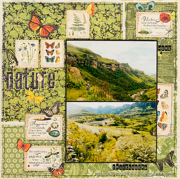 Layers of ink - Green Textures Layout by Anna-Karin with Graphic45 Nature Sketchbook