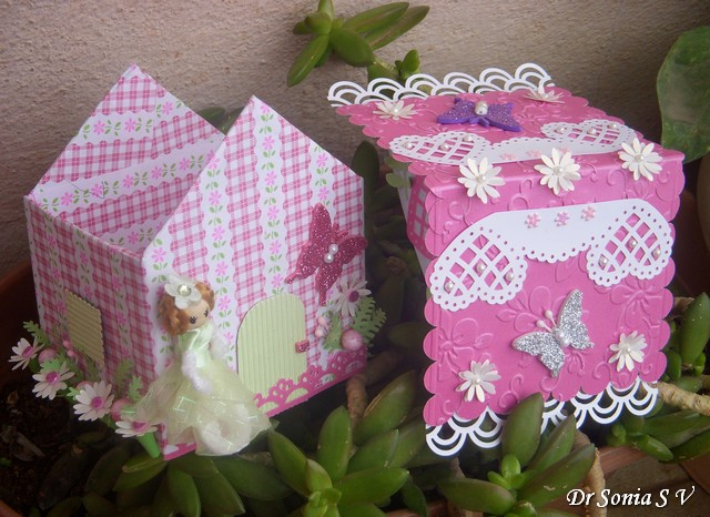 Cards ,Crafts ,Kids Projects: House Shaped Box Tutorial