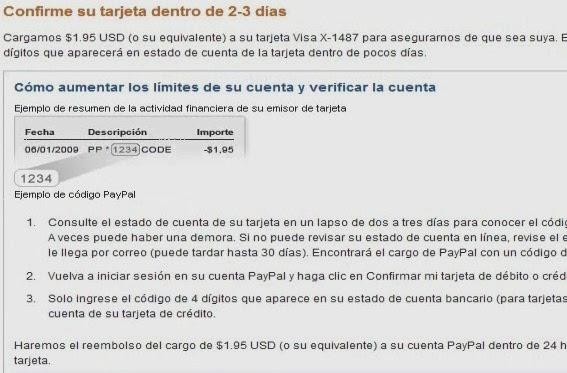 confirmar verificacion de paypal