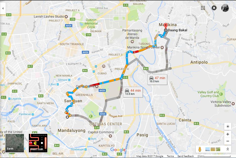 Behind the names stations of lrt line 2 filipino historian possible routes from daang bakal manilamandaluyong to daang bakal marikina photo courtesy of google maps gumiabroncs Image collections