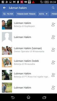 cara cari teman di aplikasi fb android