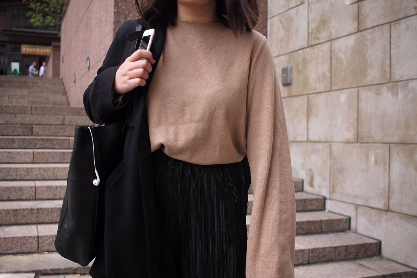 monki minimal duster coat