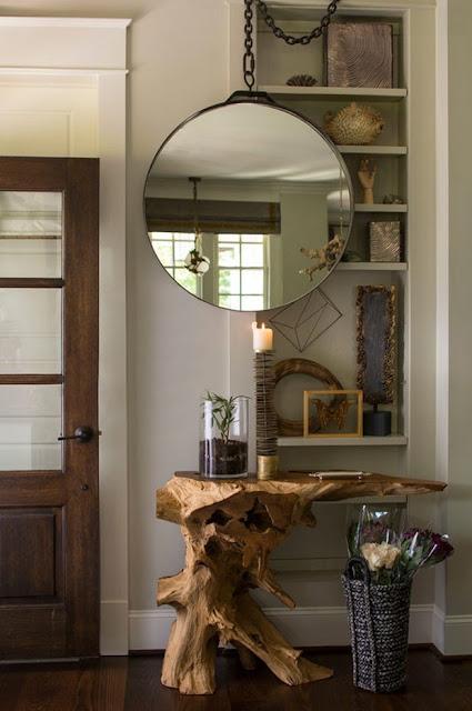 Aparador tronco e espelho