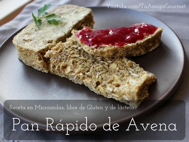 Cómo hacer un pan rápido de Avena. Receta en microondas