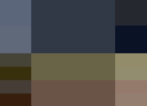 paleta de colores triada para blog de educación o literatura