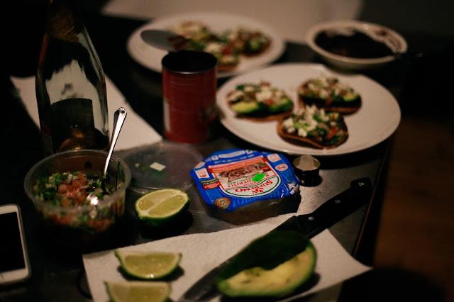avocado and cheese tacos