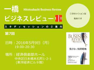 【お知らせ】第7回一橋ビジネスレビュー・スタディセッション