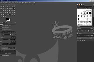 tampilan antar muka GIMP