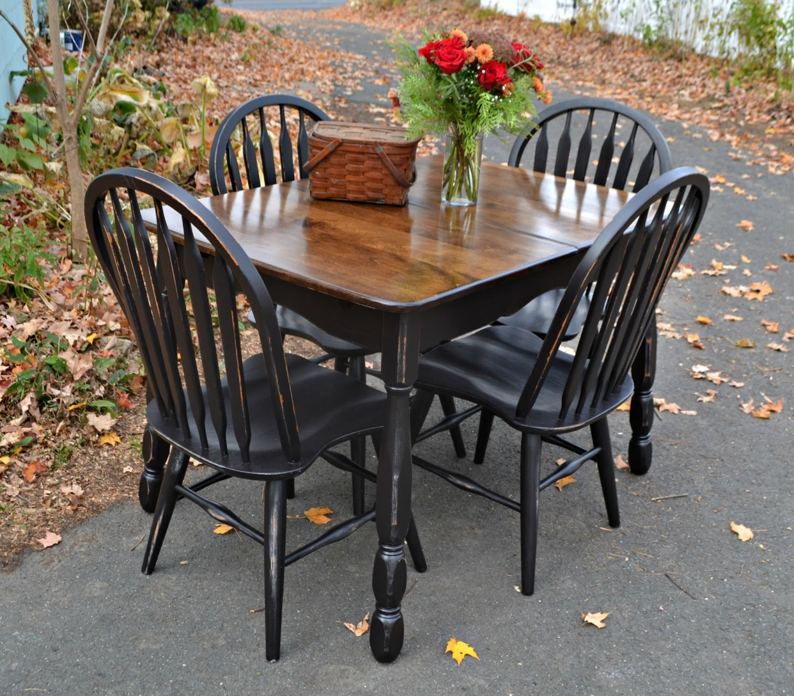 distressed black dining chairs white washed oak table and heir space vintage maple set in