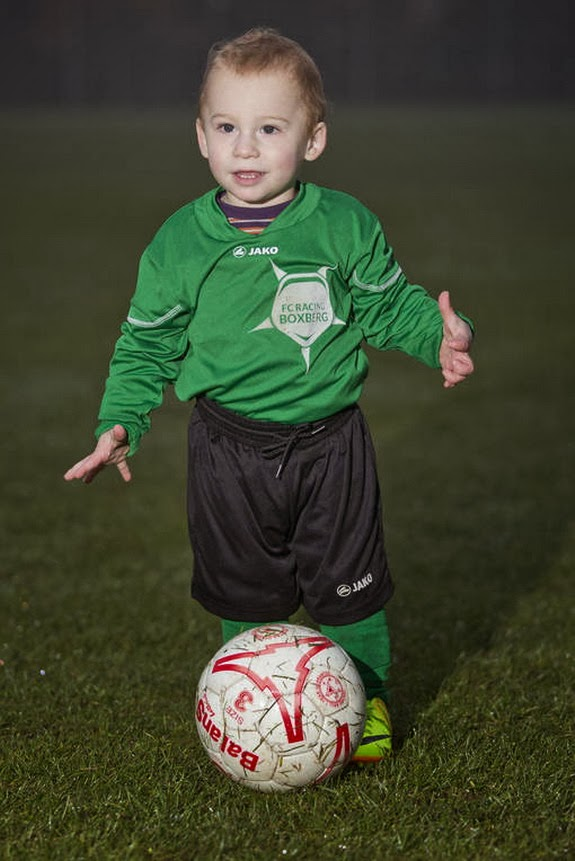 Belgium club let 20-month-old baby Bryce Brites train with U-5 team