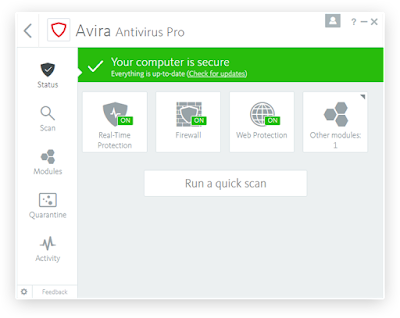 Avira Antivirus Pro 15.0.34.23 Full License Key