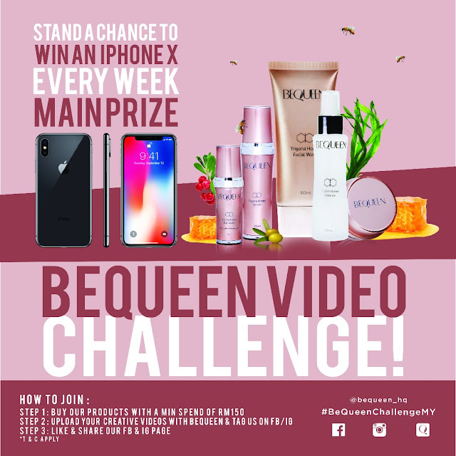 Win iPhone X Every Week with BeQueen!