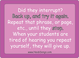 Interrupting - Getting Control of a Talkative Class - HeidiSongs