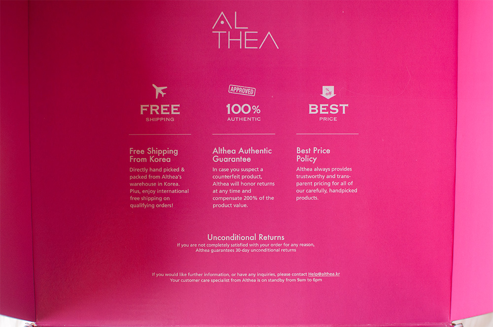 althea korea policies