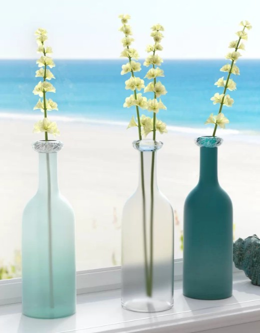 Sets of Glass Vases to Decorate Coastal Style