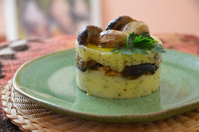 tortino di patate e funghi porcini
