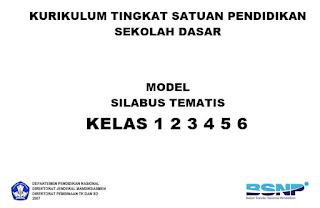 CONTOH FORMAT SILABUS BSNP SD KELAS 1 2 3 4 5 6