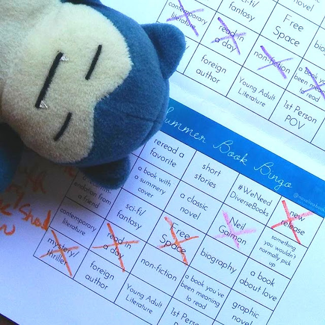 Summer Book Bingo Snorlax Plush