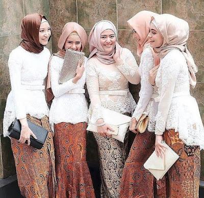 Baju muslim brokat model kebaya