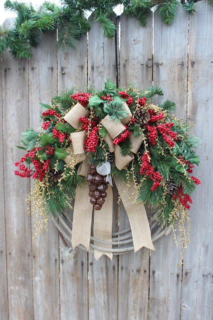 Lasso Cowboy Christmas Wreath